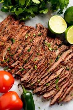 Marinated flank or skirt steak is grilled to perfection for the best Authentic Carne Asada recipe. This tender, grilled meat is full of authentic Mexican flavor. #authenticcarneasadarecipe #flanksteak #steak