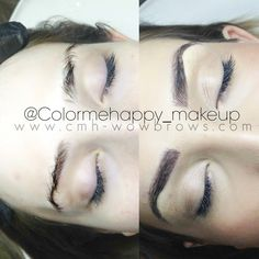 Hair stroke feather touch tattooed eyebrows $499 Cosmetic tattoo feathering microblading Melbourne