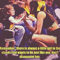 Cheerleading Role Models. Remember this!