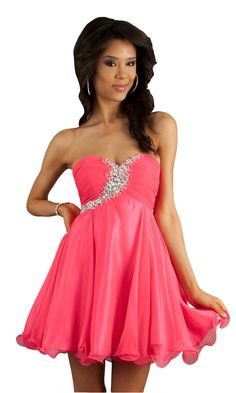 Love this pink dress for Homecoming! #dresses #pink