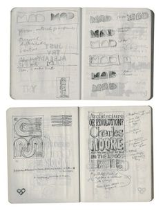 pages from Michael Bierut's sketchbook
