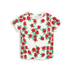 Off white-colored t-shirt with roses - Mini Rodini