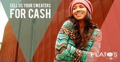 Have a stock pile of sweaters? Bring them into #PlatosClosetBarrie! We are looking to stock our shelves with cozy sweaters, so bring them in today and get cash on the spot – It's that easy! #cashforclothes   www.platosclosetbarrie.com