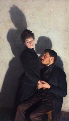 Émile Friant (French painter) 1863 - 1932 Shadows (Shadows), 1891 oil on canvas 116 x 67 cm. Musée D ' Orsay, Paris, France