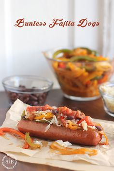 How to make a bunless hot dog, plus fajita toppings with a homemade fajita spice mix!