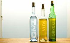 botellas recicladas con sello propio