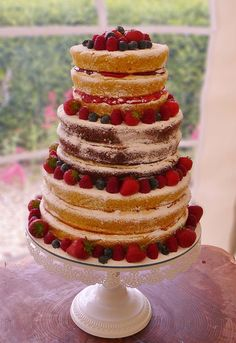 A delicious vegan & gluten-free wedding cake with summer fruits