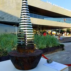 """The original object utilized in this sculpture is a PIER PILING HAMMER that lived on a Scottish built Ship named """"HERCULES NO.7"""".   The Space an Art Gallery Ship Names, North Vancouver, Hercules, Art Gallery, Sculpture, Table Decorations, Space, Artist, Floor Space"""