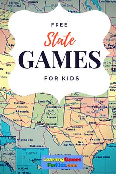 Get FREE drill and practice on U.S. States right here! Super fun learning games for kids.