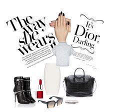 stylish everyday by anagossip on Polyvore featuring Jaeger, Jonathan Simkhai, Giuseppe Zanotti, Givenchy, Hermès, Miu Miu, Clinique and Static Nails