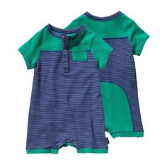 A fun, spring romper for the little ones: the Patagonia Baby Cozy Cotton Shortie is made with soft Fair Trade Certified organic cotton! #FairTrade #organic #apparel