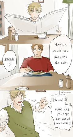 No seriously... who are and what did you do with my brother?<<<*looks at Alfred suspiciously*