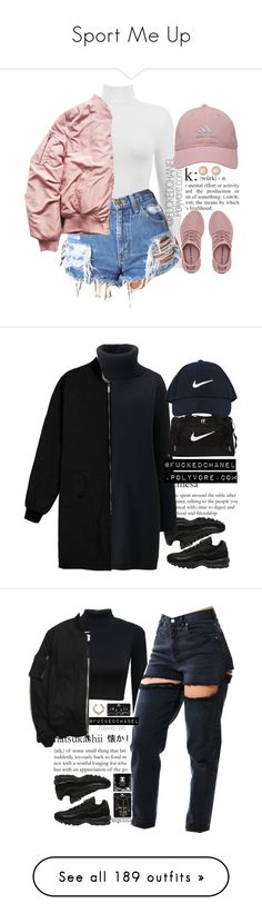 """""""Sport Me Up"""" by dannyg ❤ liked on Polyvore featuring Dukes, adidas Golf, Charlotte Russe, NIKE, Uniqlo, Topshop, Chanel, T By Alexander Wang, CÉLINE and adidas"""