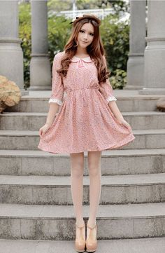 Mango Doll - Floral Print Peter Pan Collar Dress, $47.00 (http://www.mangodoll.com/all-items/floral-print-peter-pan-collar-dress/)