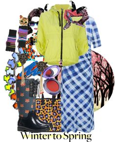 """""""'Winter to Spring w/ Bold Colors and Prints, set #6'"""" by hexy ❤ liked on Polyvore"""