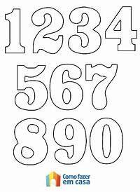 Moldes De Numeros Para Imprimir Para Alfabetizacao E Colorir Pictures Alphabet Templates, Number Templates, Tag Templates, Number Stencils, Printable Numbers, Alphabet And Numbers, Hand Lettering, Coloring Pages, Preschool