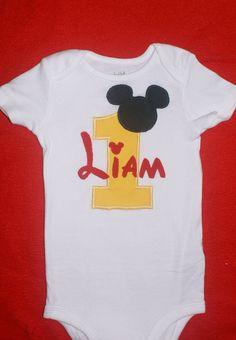 Mickey Mouse 1st birthday onesie