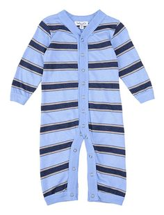 Splendid Official Store, Heathered Stripe Playsuit, sky, Baby Boy : Winter Sale, SKB2711