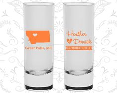 Montana Shooters, Montana Wedding, Personalized Tall Shot Glasses, Destination Shooters, State Shooters, Wedding Shooters (125)