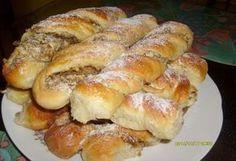 ené rolky s jableÄ? Albanian Recipes, Croatian Recipes, Hungarian Recipes, Russian Recipes, Czech Recipes, Nut Recipes, Sweet Recipes, Cooking Recipes, Challa Bread
