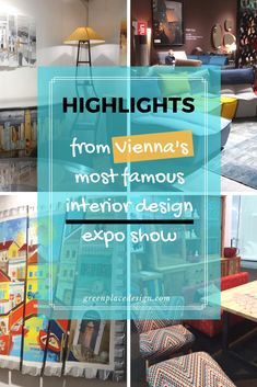 Highlights to remember from Vienna's most famous interior design expo show Wohnen und Interieur 2017 Cool Furniture, Furniture Ideas, Furniture Design, Source Of Inspiration, Furniture Inspiration, Design Show, Vienna, Austria, Highlights