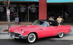 Sunset Coral 1957 Ford Thunderbird.