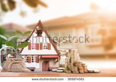 Mortgage loading and property document concept for real estate