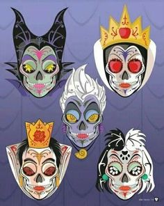 Day of the dead Disney villains