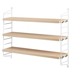 String Pocket shelf, ash/white String Pocket, Bookcase, Shelves, Bookcases, Book Furniture, Bookcase Closet