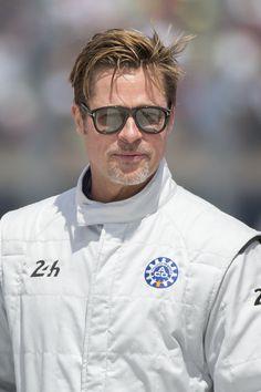 Brad Pitt laps up attention at French race car event Angelina Jolie, Brad And Angelina, Brad Pitt, Ideal Man, Perfect Man, Jennifer Aniston, Le Mans, Bridget Jones, Patrick Dempsey