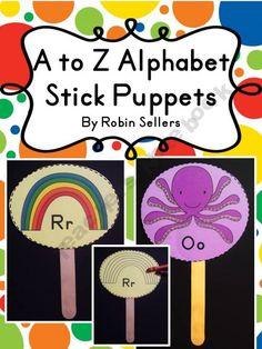 A to Z Stick Puppets
