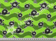 Michas Stoffecke - Stretchjersey Digitaldruck Janeas Monster Dazzy grün V-EP-JP-1318HM-N-EV