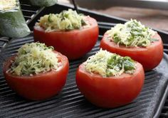Grilled tomatoes, Grillatut tomaatit, resepti – Ruoka.fi Microwave Dinners, Grilled Tomatoes, Eating Well, Fruit, Anna, Food, Recipes, Essen, Eten