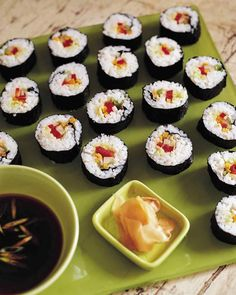 For the more sophisticated and adventurous little eater, try these vegetable sushi rolls.