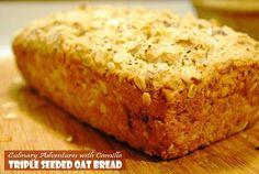 Triple Seeded Oat Bread for #BreadBakers