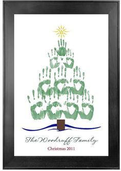 Items similar to Holiday Handprint Tree PDF DIY Version - Family Art Tree - Children Art Project on Etsy Childrens Christmas Crafts, Christmas Activities, Holiday Crafts, Holiday Fun, Preschool Christmas, Personalized Christmas Gifts, Diy Christmas Gifts, Christmas Holidays, Hand Print Tree