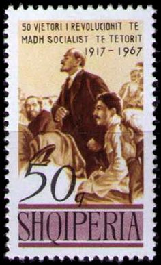 Albania -  1967  Postage stamps from Albania are marked Shqiperia, Shqiperise and Shqiptare.