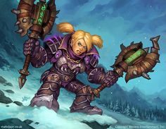 Copyright Blizzard Entertainment, Inc. All rights reserved. Card art for the World of Warcraft TCG. Female dwarves and gnomes were some of my favourite characters to paint! Following the recent new...