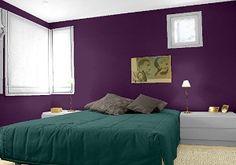 farbgestaltung f r ein schlafzimmer in den wandfarben sky niagara my sunrise. Black Bedroom Furniture Sets. Home Design Ideas