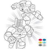 PLAYSKOOL HEROES Transformers Rescue Bots Color by Numbers Activity