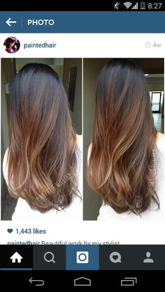 Highlight ombre asians