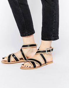 Image 1 ofASOS FORMULA Leather Sandals