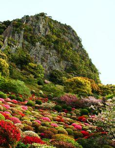 Mifuneyama Gardens in Takeo, Saga, Japan