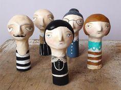 Flor Panichelli's Paper Mache Finger Puppets