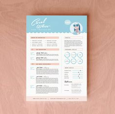 "Resume CV Design + Cover Letter Template for Word | Instant Digital Download | The ""Marinera"" on Etsy, $18.80"