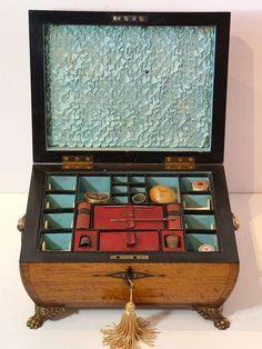 1stdibs.com | Regency Satinwood Sewing Box