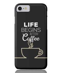 Coffee (Black) Phone Case - iPhone 7