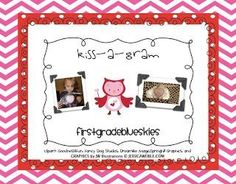 Kiss A Gram Freebie!  By Jennifer at First Grade Blue Skies! Fern's Freebie Friday at Fern Smith's Classroom Ideas!