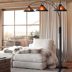 Fashioned in an arched-style design, Latitude Run 3 Light Arc Floor Lamp is an elegant option to be placed in the living room, bedroom, or a beautiful lobby. It is made from a combination of high-quality MFD and metal that ensures years of use. It has a beautiful dark brown finish, which not only looks spectacular, but also blends flawlessly with most interiors. This floor lamp has an adjustable height, and includes a full-range dimmer to alter the amount of brightness. The 3 Light Arc Floor…
