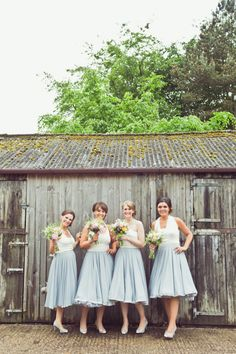 Prom Vintage Dresses Bridesmaids Grey White Super Pretty Candy Coloured Country Marquee Wedding http://www.carlybevan.co.uk/